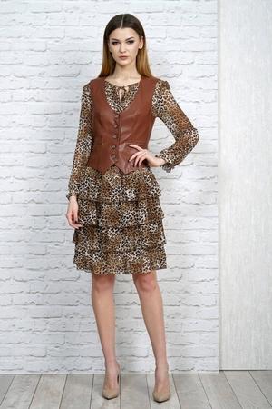 Алани 1098 – Платье с жилетом 2
