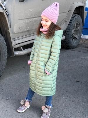 Пальто для девочки Зелёный