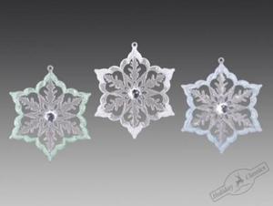 KB1708W/CA1405CBG Снежинка ледяная искристая, 10,5х11,5 см