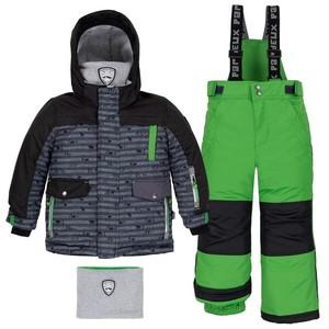 B 10 L 803 Костюм детский для мальчика (куртка+брюки на лямках+манишка) С.275
