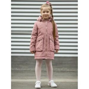 Пальто для девочки Эмили пудровый меланж Аврора