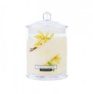 Свеча ароматическая в стеклянной банке Кашемир и ваниль 30 часов горения