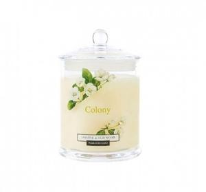 Свеча ароматическая в стеклянной банке Жасмин и дерево уд 30 часов горения