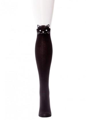 LARMINI Колготки LR-C-CAT-164798, цвет черный/белый