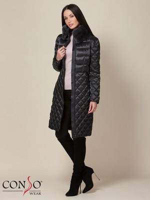 WELF 190529 - steel grey Пальто утепленное женское