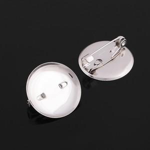 Основа для броши с круглым основанием СМ-367, (набор 5шт) 20 мм, цвет серебро