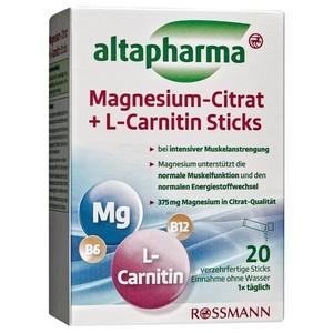 altapharma  Magnesium-Citrat + L-Carnitin Sticks, Магний + Л-Карнитин, в стиках, 20 шт (арт. RS-256643)