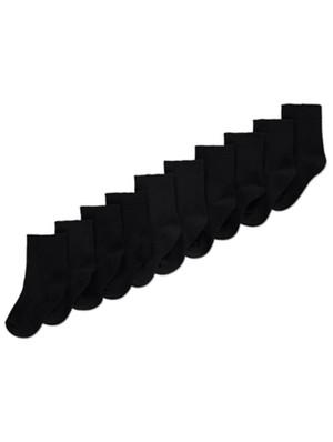 Black Cotton Rich Ankle Socks 10 Pack