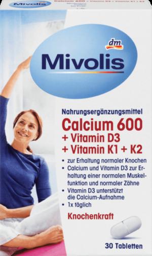 DAS gesunde PLUS Кальций 600 + D3 + K Таблетки, 30 шт (арт. RM406-02797)