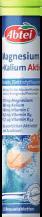 Abtei  Magnesium+Kalium  Магний + Калий Aktiv Растворимые таблетки, 15 шт (арт. RM406-02843)