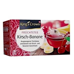 King's Crown Fruchtetee Kirsch-Banane Фруктовый чай Вишня Банан сбалансированный вкус с ароматом вишни и банана  60 г (арт. RS-681629)