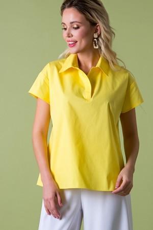 Рубашка из хлопка желтая  (Б-95-4)