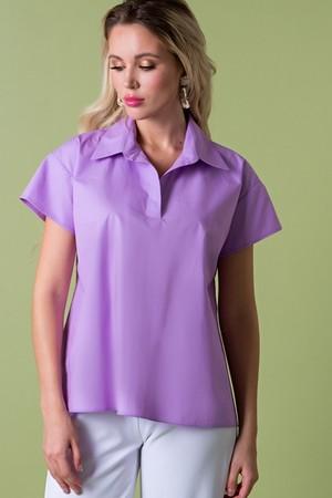Рубашка из хлопка лиловая  (Б-95-5)