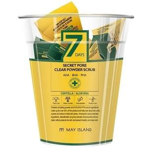 MAY ISLAND 7Days Secret Pore Clear Powder Scrub Скраб для лица с Центеллой, 5гр*12шт