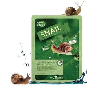 KR/ MAY ISLAND Real Essence Mask Pack Snail Маска-салфетка для лица Улитка, 25мл