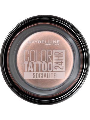MBL Color Tatoo 24h стойкие крем-гелевые тени для век Socialite (Нежный персик)