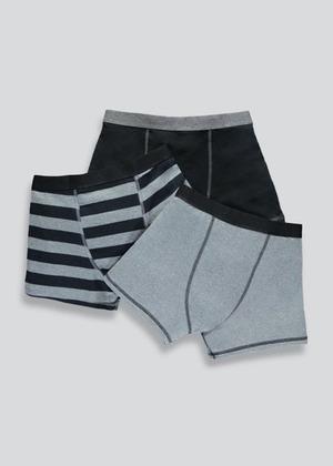 Boys 3 Pack Stripe Trunks (2-16yrs)