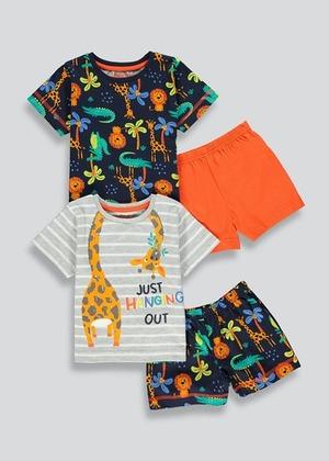 Kids 2 Pack Short Pyjamas (9mths-5yrs)