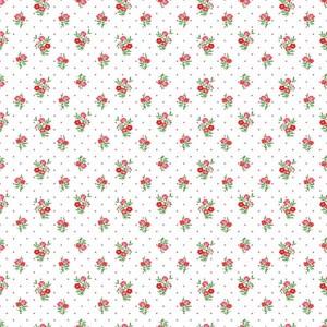 Ткань на отрез ситец 95 см 18981/2 Цветы на белом