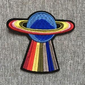 Термоаппликация ТАВ В53 планета радужная малая  5,5*6см