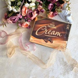 Kalev шоколадные конфеты с начинкой из сливочного ликера Vana Tallinn Cream  124гх16 (6723)