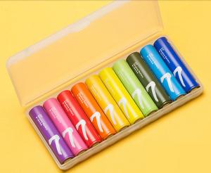 ЭКО_Батарейка AAA (мизинчиковая) - Xiaomi Rainbow Colors (10 штук)