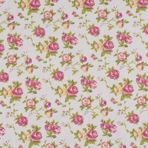 Ткань на отрез лен TBY-DJ-14 Роза