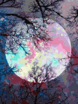 Неоновая луна