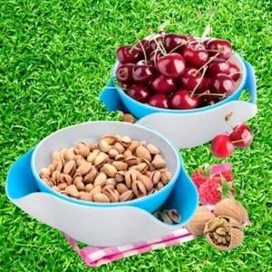 Чаша для фруктов с дуршлаком 26*24*11 см./ Сделано в России/ 70 шт.в упаковке/ 1 шт. (арт. 2478)