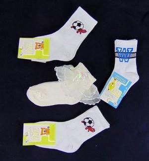 Носки детские белые 1 пара с дефектом (арт. 1464)