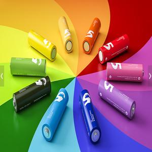 ЭКО_Батарейка AA (пальчиковая) Xiaomi Rainbow Colors (10 штук)