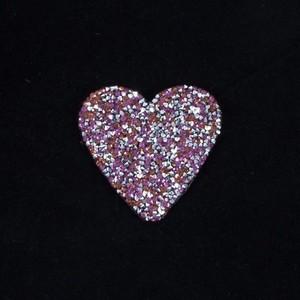 Термоаппликация ТАС 118 сердце розовое 7см