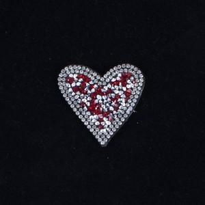 Термоаппликация ТАС 110 сердце красное 5*4,5см