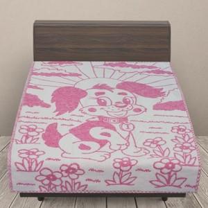 Одеяло детское байковое жаккардовое 100/140 см щенки цвет розовый