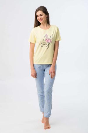 81637 Комплект женский WK 2056 889, Состав: футболка 100%хлопок                брюки 95%хлопок 5%лайкра