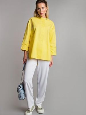 Блуза с надписями цвет желтый Б-115-5