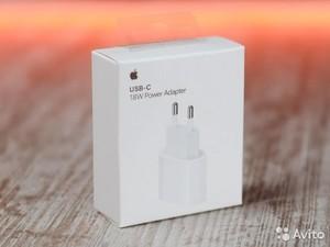 Адаптер питания Apple USB-С мощностью 18 Вт - скоростная зарядка. Шнур нужен USB-С