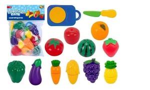 Игровой набор ABtoys Помогаю маме Продукты для резки на липучках (фрукты и овощи), 24 предмета, в пакете63
