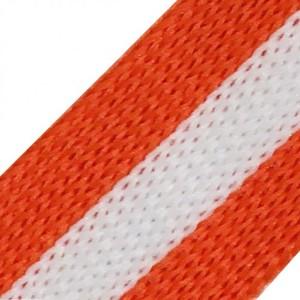 Лампасы №84 белый оранжевый 2 см 1 метр