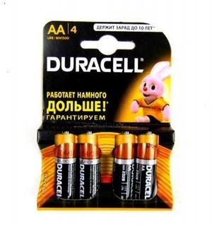 Батарейки DURACELL пальчиковые 4 шт (арт. 2753)