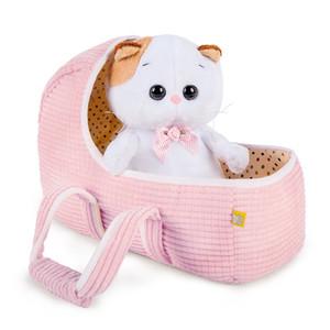 Кошечка Ли-Ли Baby в люльке 20 см, мягкая игрушка Basik&Co Кот Басик