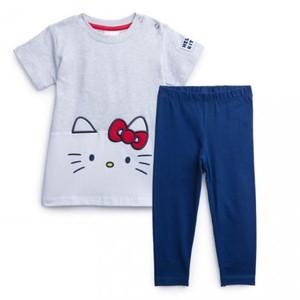 Комплект трикотажный для девочек: фуфайка (футболка), брюки (легинсы)