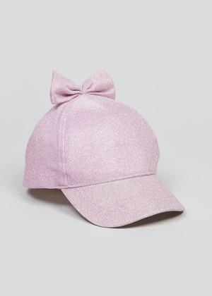 Girls Sparkle Bow Cap (3-6yrs)