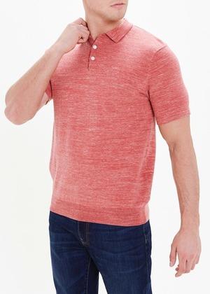 Short Sleeve Space Dye Polo Shirt