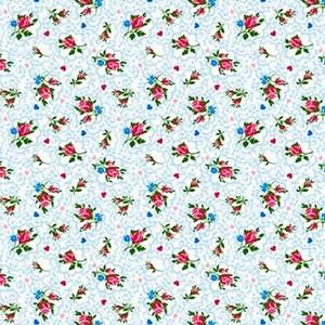 Ткань на отрез ситец 95 см 18509/1 Цветы