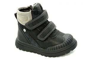 Ботинки на меху N7106-1 черн