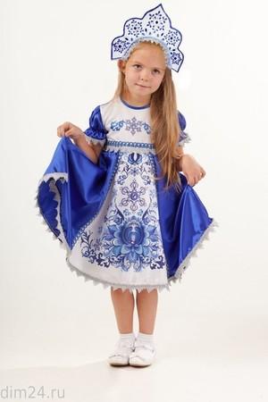 Снегурочка Зимние узоры (платье, кокошник) (арт. 1024 к-18)