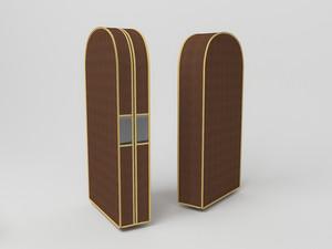 Чехол двойной для одежды малый, 60х100х20см 1503