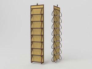 Кофр для колготок и мелочей, двусторонний, 16 карманов, 20х80см 1410