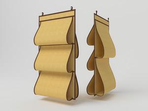 Кофр для сумок, двусторонний, 5 карманов, 40х70см 1409